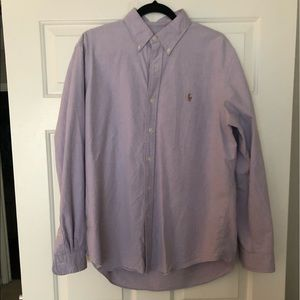 Lilac Button Down Shirt Size Large